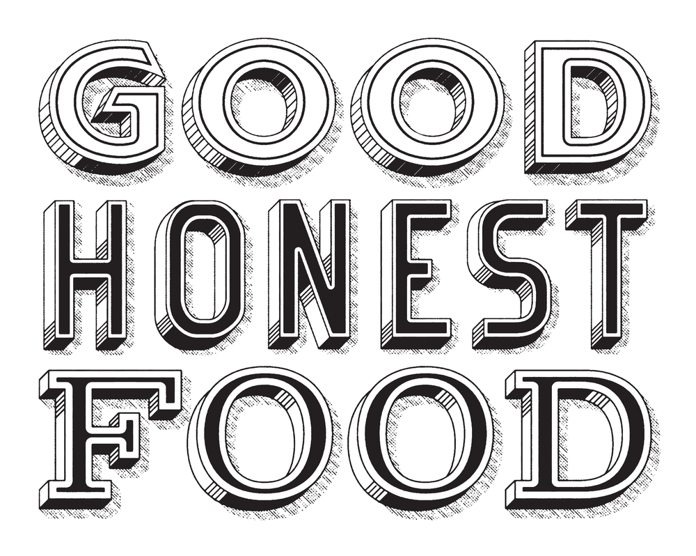 Good honest food mural