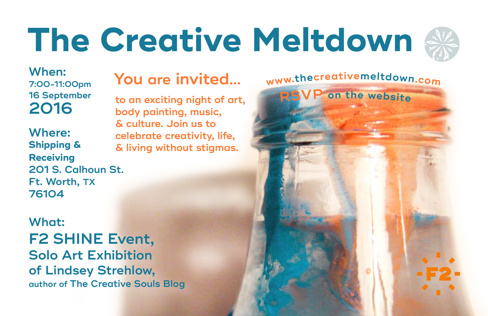 The Creative Meltdown Art Show and Exhibition Invite