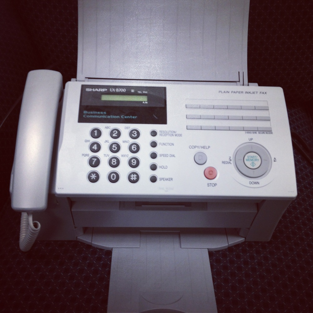 Old Fax Machine