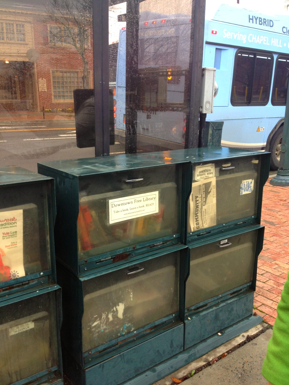 Downtown Free Library on N. Columbia St.