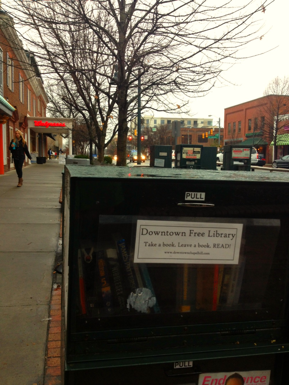 Downtown Free Library on East Franklin St.