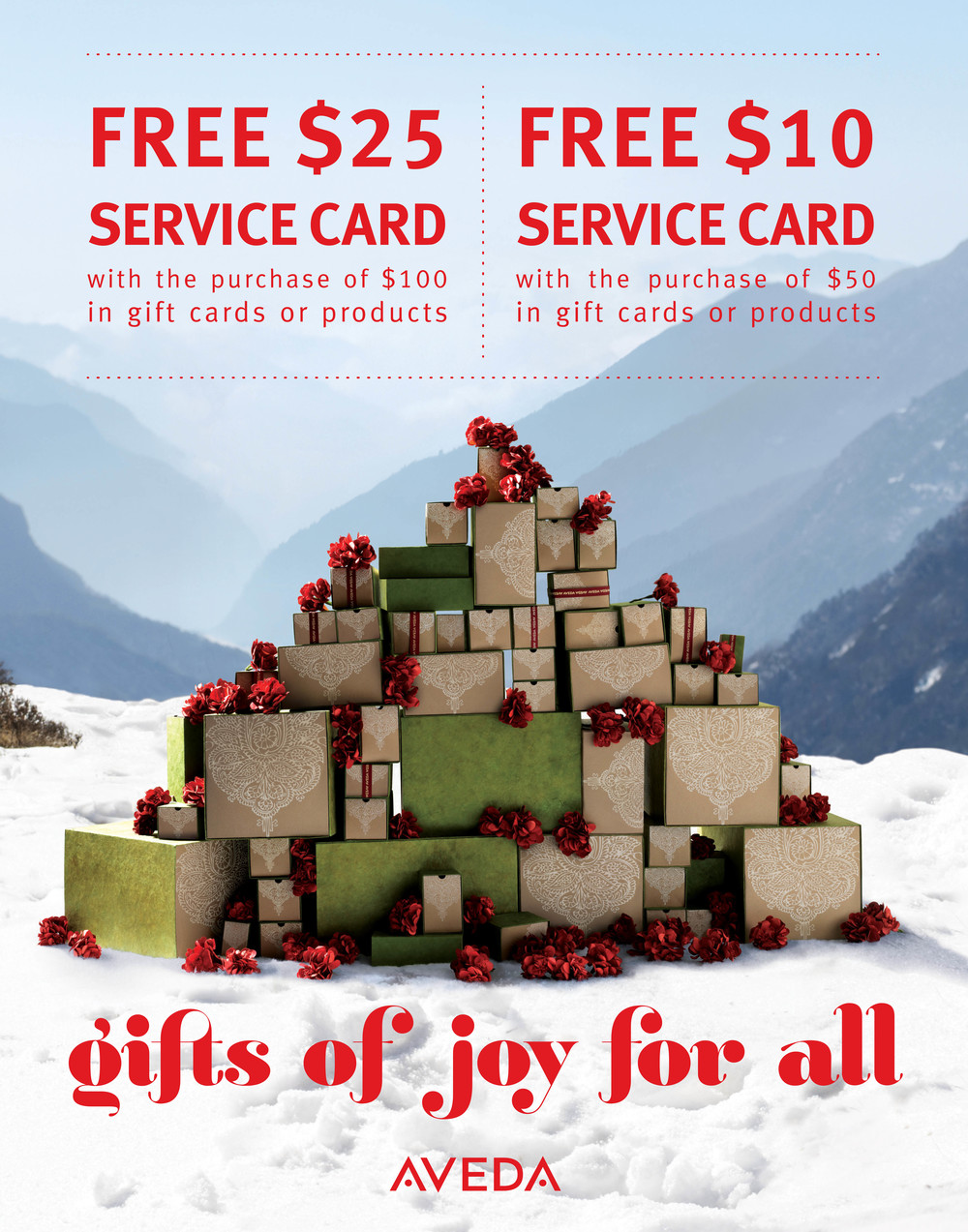 gift card specials poster 2013