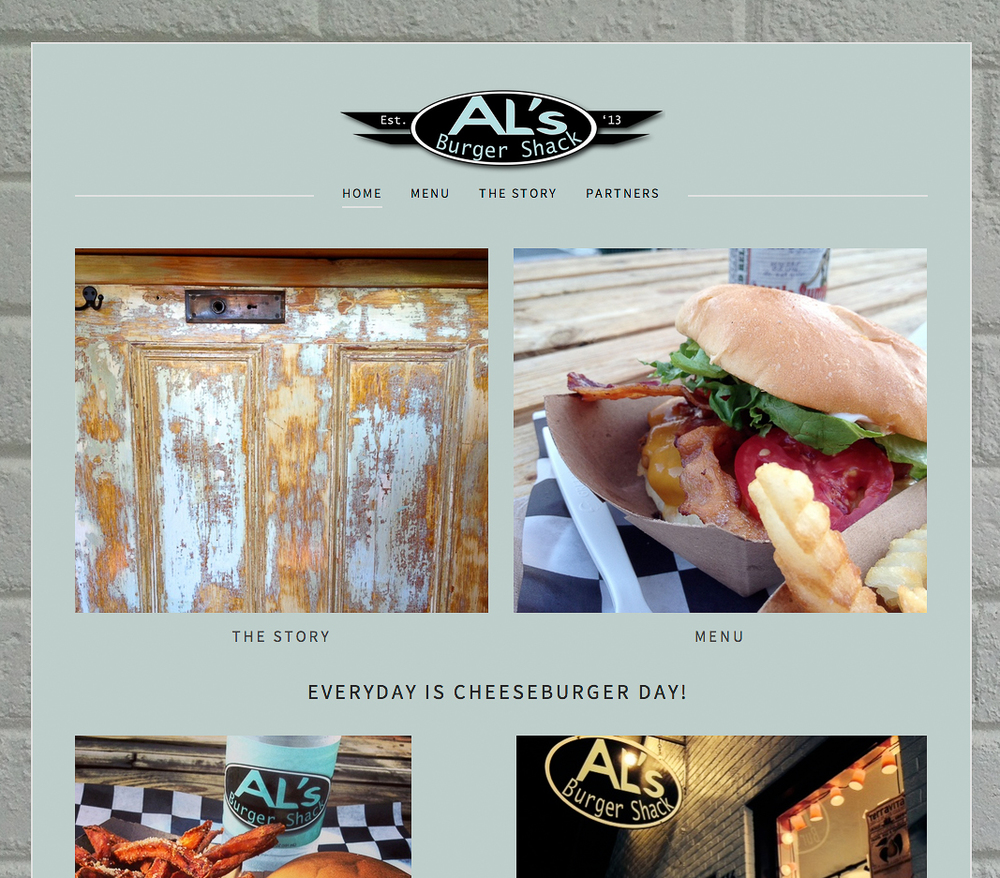 Website Design for lots of great downtown businesses.   www.alsburgershack.com
