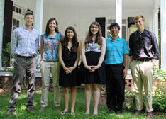 Summer 2014 Interns: Graham Berkelhammer, Cassandra Bennett (Program Coordinator), Sarah Faircloth, Kaitlyn Vogt, Victor Chen, and Kiever Hunter