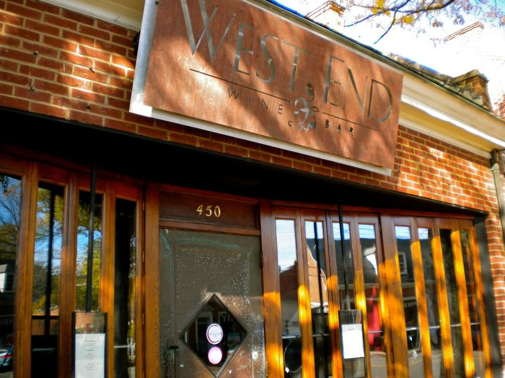 West End Wine Bar - 450 West Franklin Street | 919-967-7599 | www.westendwinebar.com
