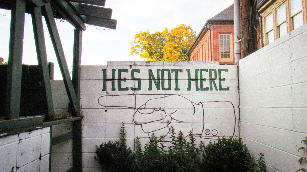He's Not Here - 112 1/2 West Franklin Street | 919-942-7939 | www.hesnotherenc.com