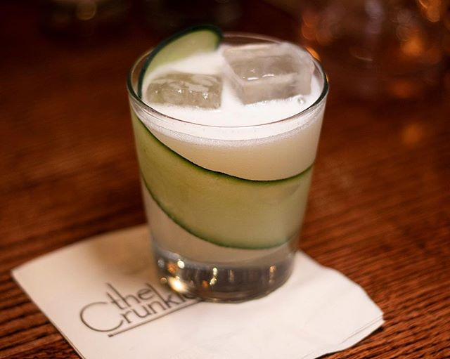 The Elderflower Sour is another one of our favorite cocktails. Although the recipe has changed a bit from when Gary first created it, it still remains a classic on our menu. Made with elderflower liqueur, gin, simple syrup, ginger, and lime, it is guaranteed to hit the spot every time. Don't forget the that whole slice of cucumber too! (It makes for a perfect snack at the end of a great cocktail)