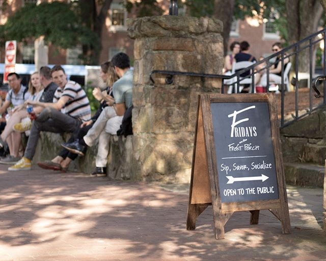 #TGIF! A beautiful Friday evening in Downtown Chapel Hill means a great night to visit #FOFP! Fridays on the Front Porch is a classic 'Carolina' event at @TheCarolinaInn!