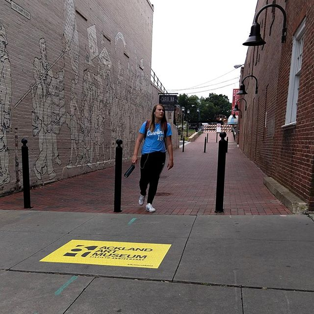 We are thrilled that @ackland_art_museum is celebrating their 60th in Downtown Chapel Hill! Check out these colorful sidewalk stickers along Franklin Street! We hope their upcoming exhibits are as colorful!