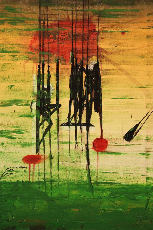 """Florian T. Keller """"Brain Forest"""" Acrylic/oil on canvas, 28"""" x 20"""", 2012"""
