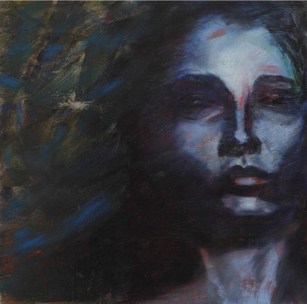 Amir Yeke (IR-I), Pittura 2 (2011), oil on canvas, cm 50x50.jpg