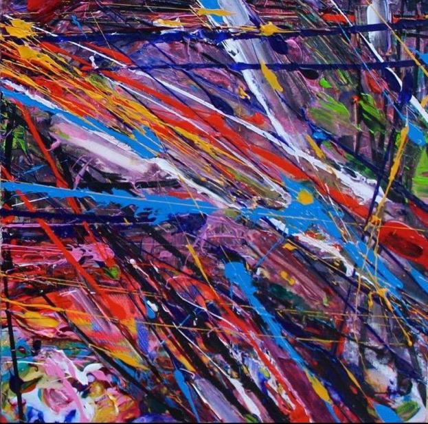 Roberta Grewcock (CA), New York Squares 2 #2 (2016), acrylic on canvas, cm 50x50.jpg