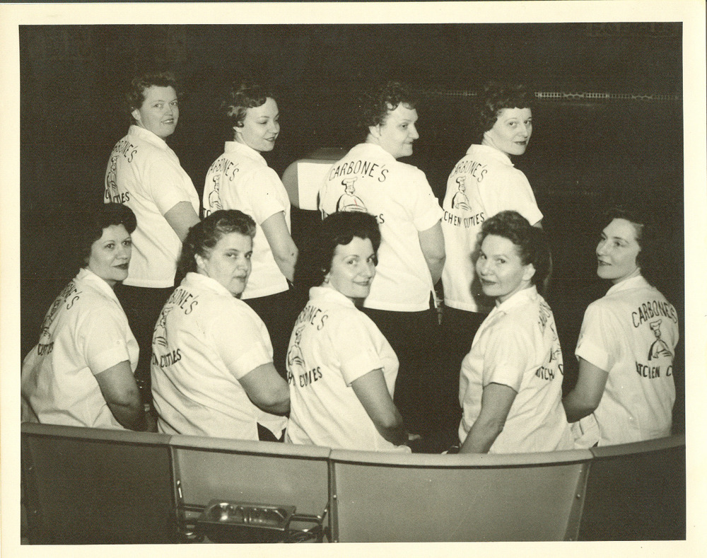 carbone's kitchen cuties bowling team in the 1960s.jpg