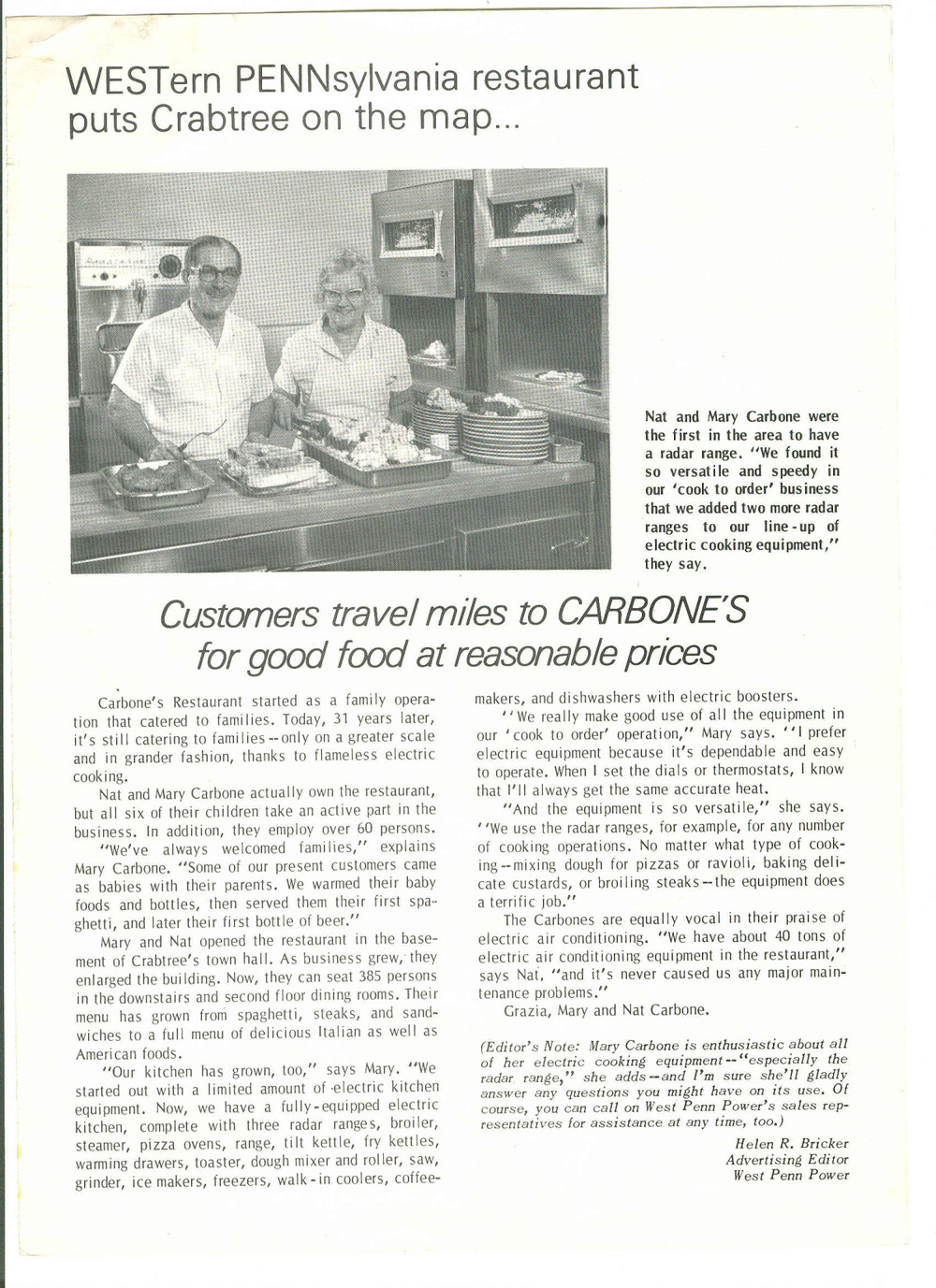 article in west penn power magazine about carbone's use of r.jpg