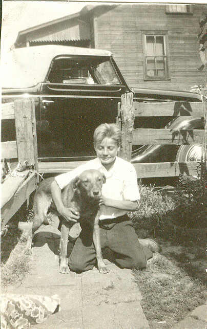 vince mangini and dog in 1936.jpg