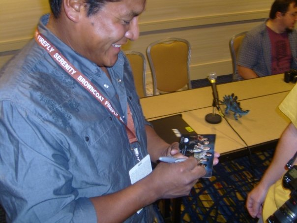 Signing my first official autograph at the Browncoats:Redemption panel