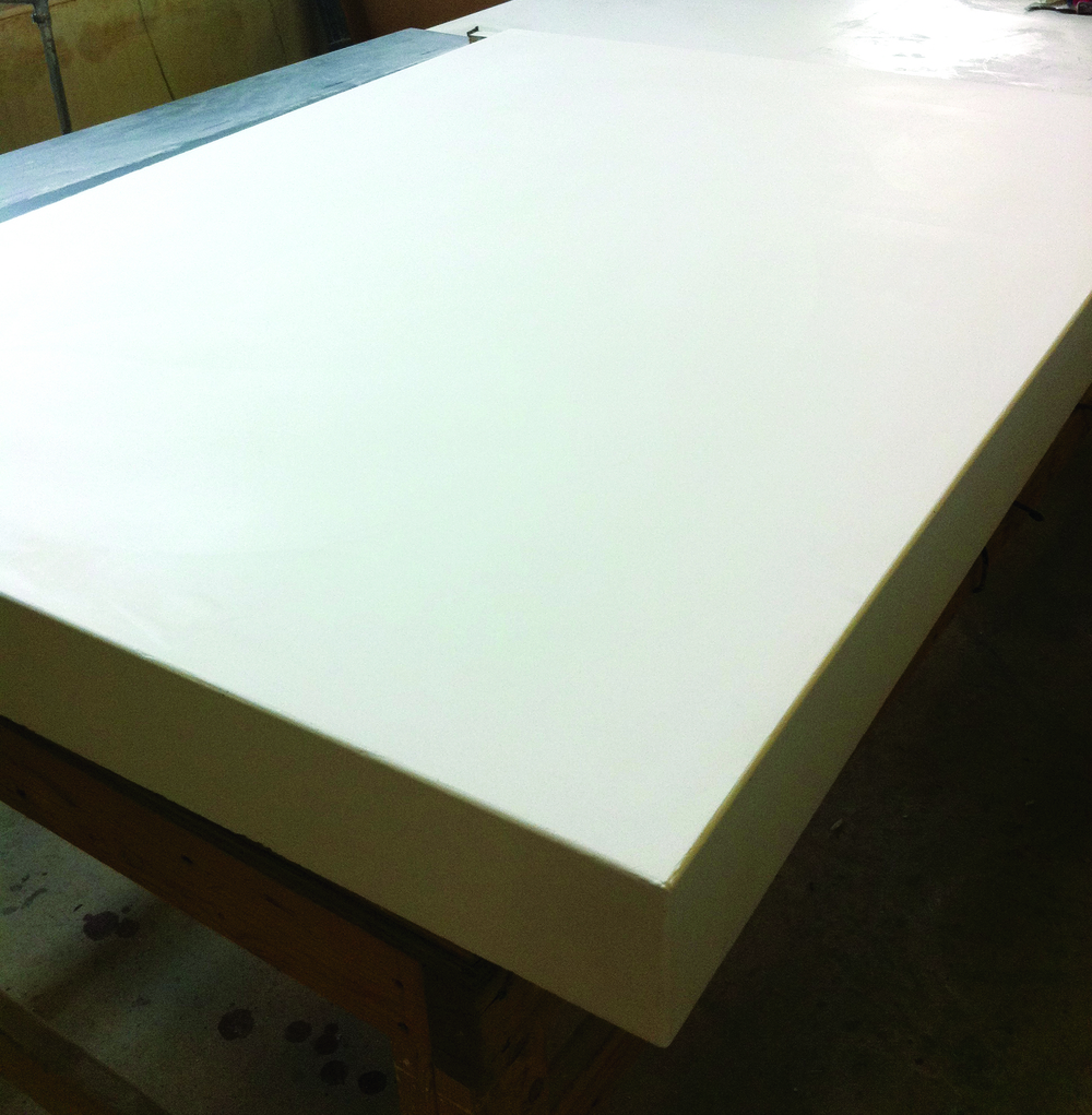 white concrete counter