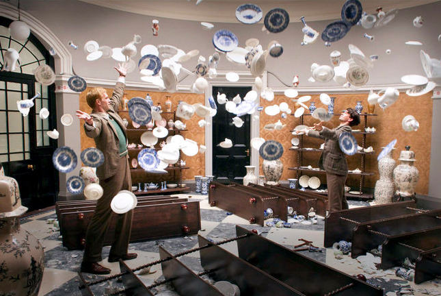 Great scene from the film, especially in slow motion, with the falling ceramics. Freedom, is it.