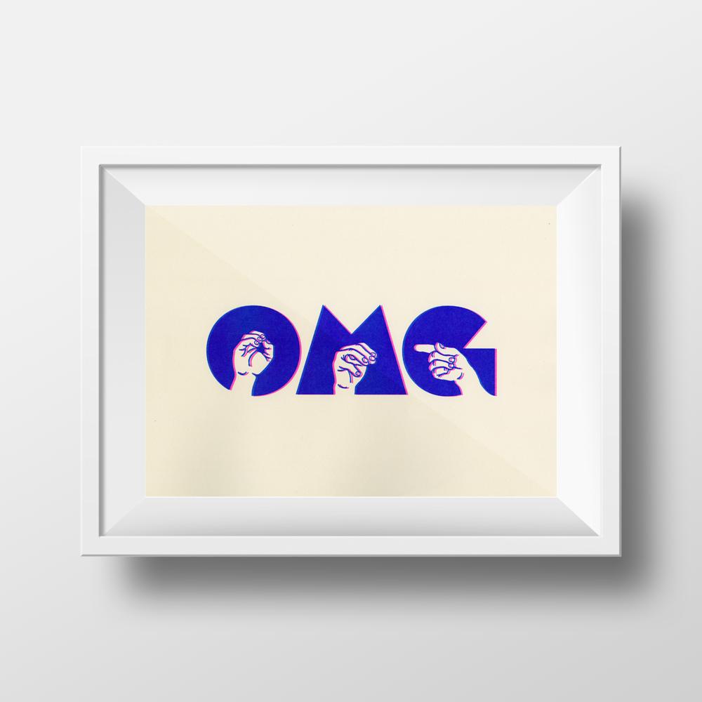 OMG print, 11 x 17 — Melissa Malzkuhn
