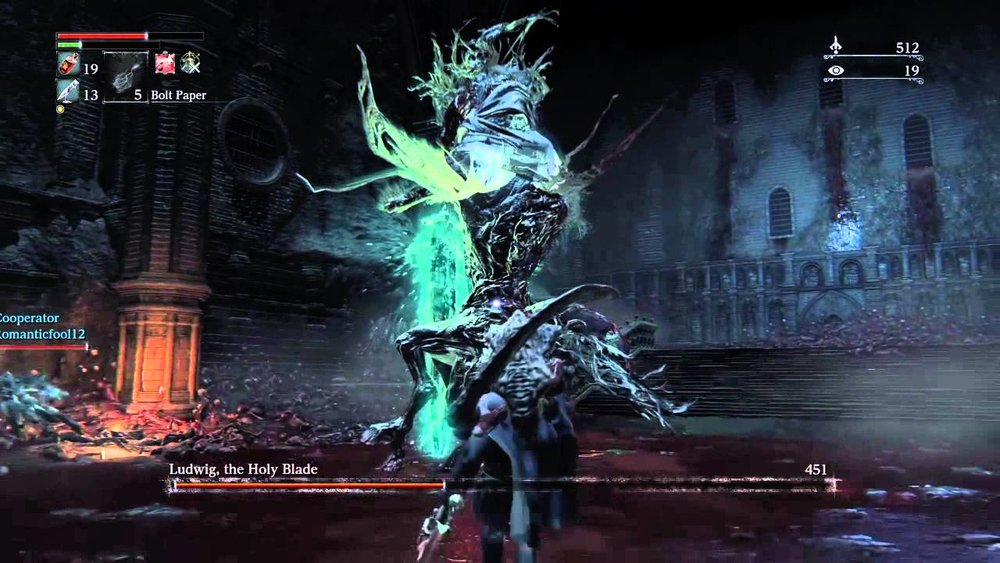 Ludwig's final phase has him swinging his holy blade and really ramping up the difficulty.