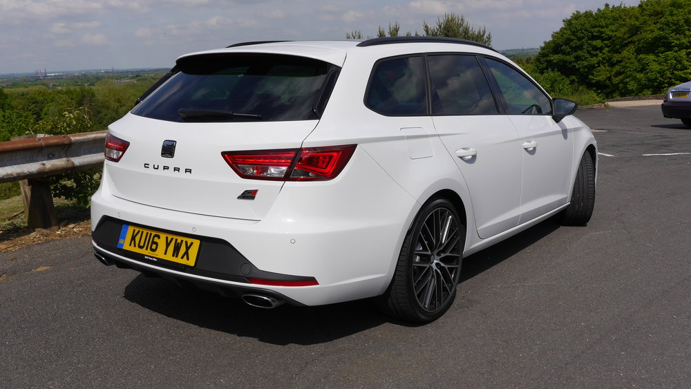 The Spoiler, bumper insert and twin exhausts mark this out as a Cupra 290
