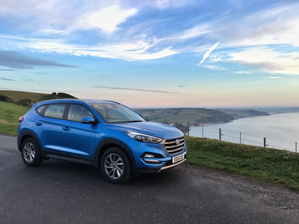 Hyundai Tucson SE Nav overlooking Start Bay, Devon