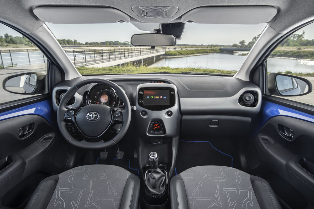 Interior of the range-topping Aygo x-clusiv