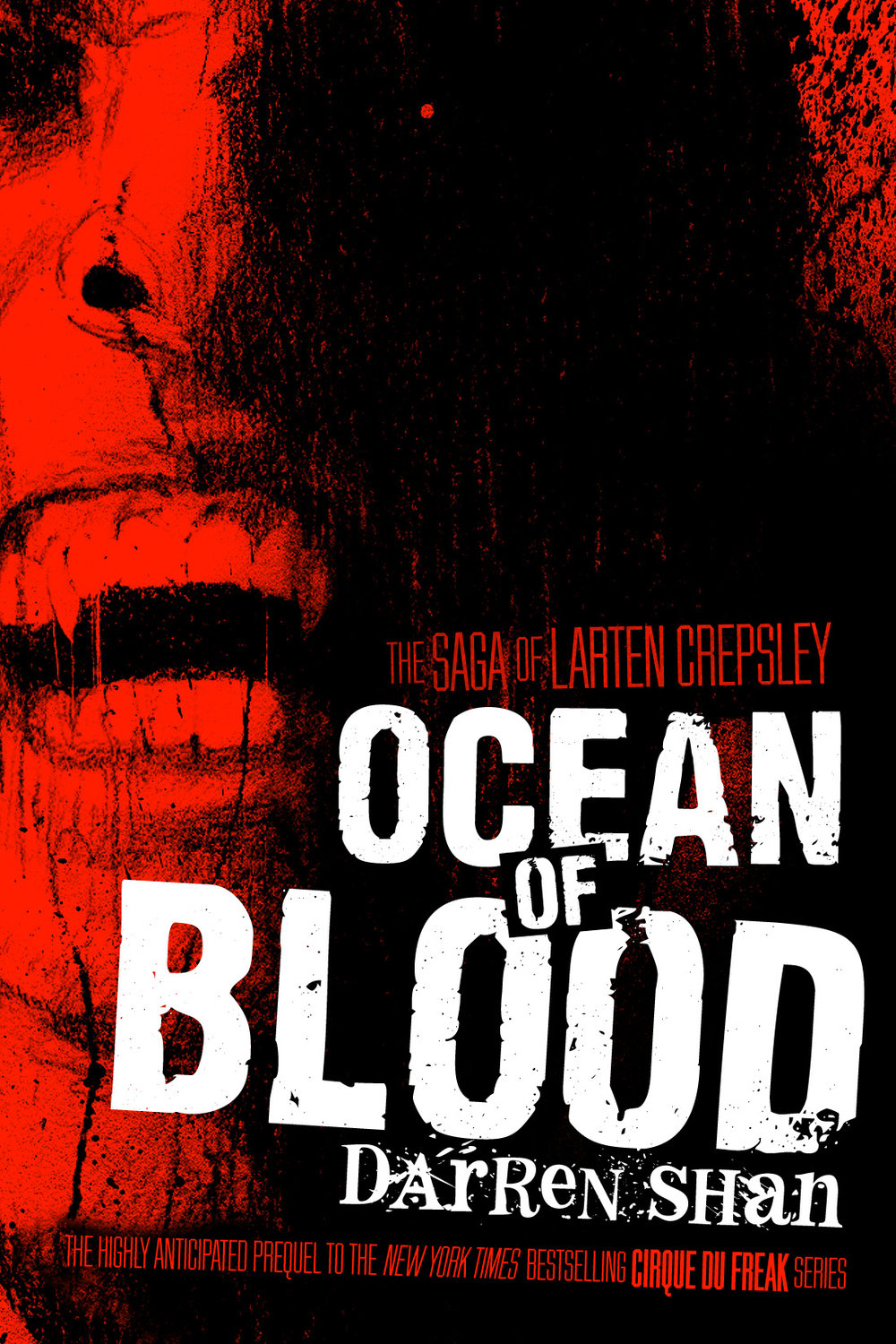 The Saga of Larten Crepsley: Ocean of Blood Paperback by Darren Shan Designed by Ben Mautner for Little, Brown Illustrated by Sam Weber
