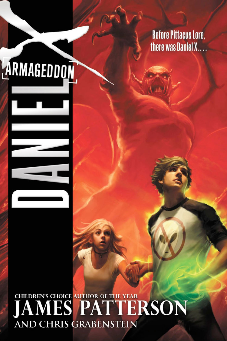 Daniel X: Armageddon by James Patterson Designed by Ben Mautner for Little, Brown Illustrated by Owen Richardson