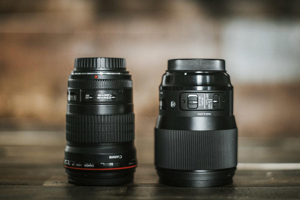 Canon 135L (LEFT) / Sigma 135 ART (RIGHT)