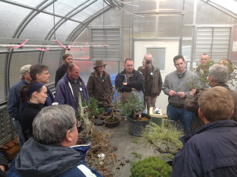 This 3 day study was conducted at Nature's Way Bonsai studio, greenhouses & outdoors in the growing areas.