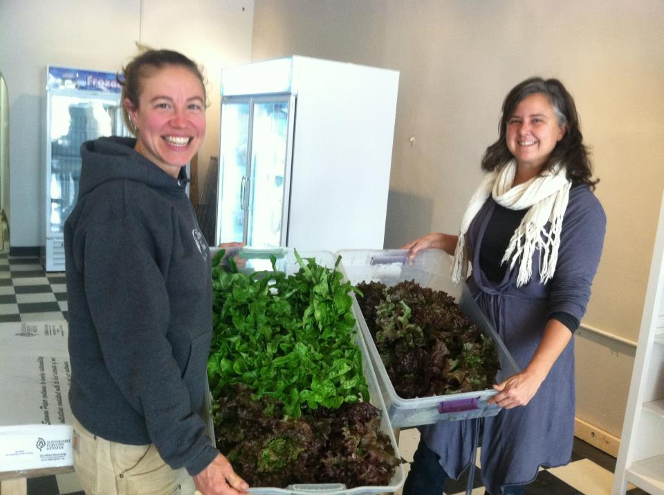 Janet from Broadfork farm brought us amazing greens