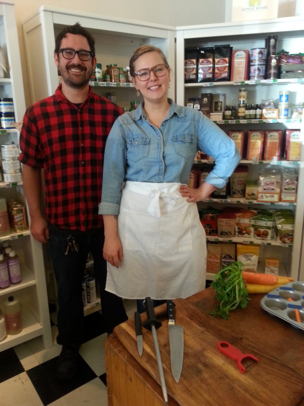Our class instructor, Chef Brittany Anderson, with husband Kjell. Brittany is the chef/owner of the soon-to-open Metzger Bar and Butchery in Church Hill.