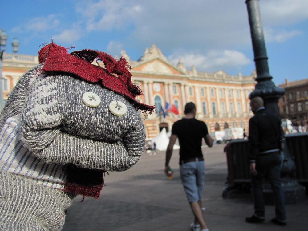 Pierre in front of the Capitole of Toulouse
