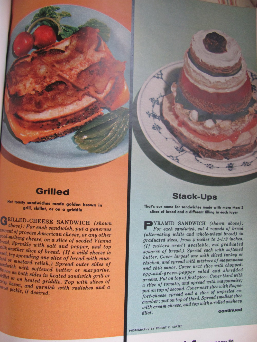 """Remember """"stack-ups"""" from before? And I see a grilled cheese sandwich but if they think they can trick me into eating my """"process American cheese"""" without tongue and raisins, they can go scratch."""
