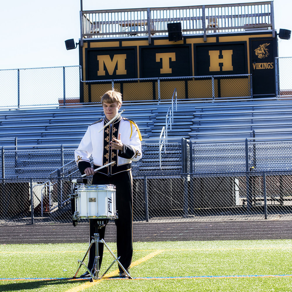 Mount Hebron High School Marching Unit Senior Portrait