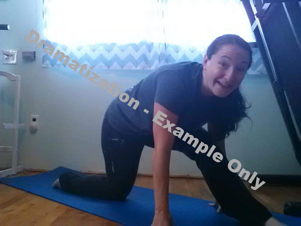 Left Split - Week 1: Here is my left split today. I have a lot of stretching to go! #gottadancenj #dancegoals