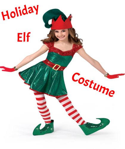 Gotta Dance will supply each Performance Team member a holiday costume dress to wear when we perform our Holiday show this December. (Check Event Page for Holiday Show details).