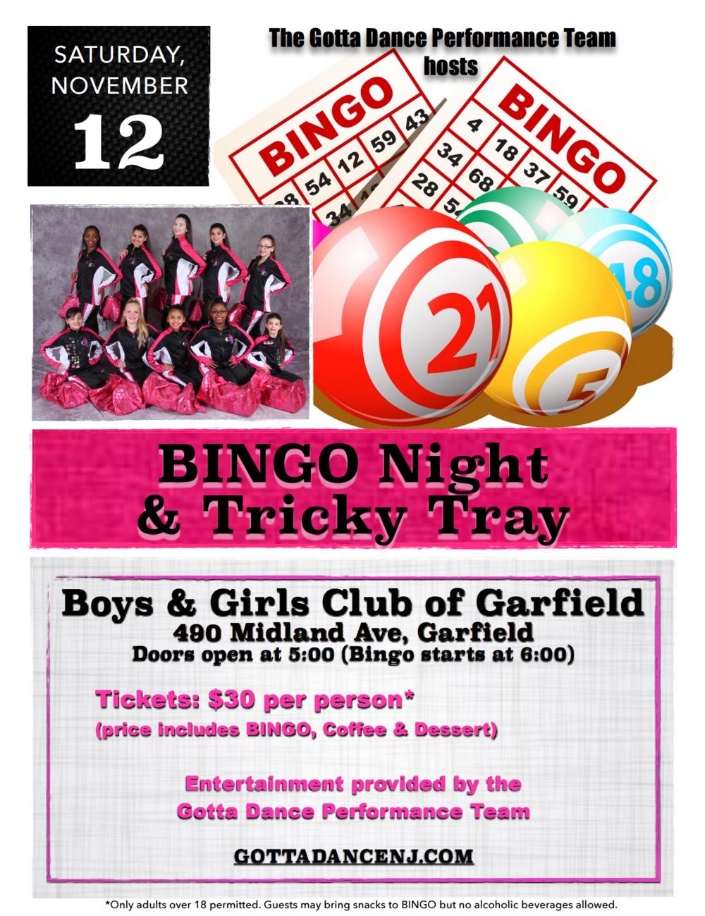 11/12: BINGO Night & Tricky Tray