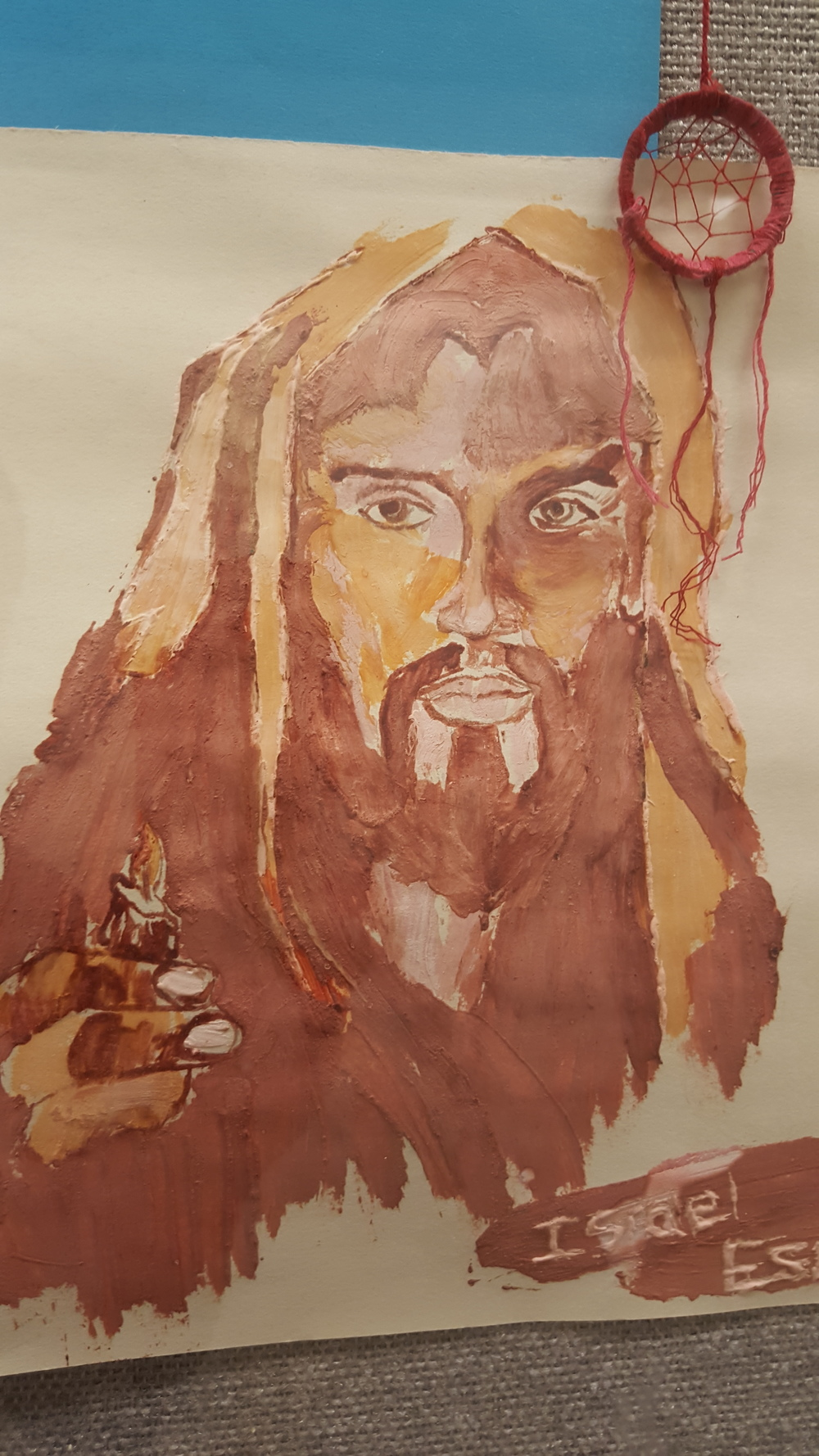 Picture of Jesus drawn by a new believer.