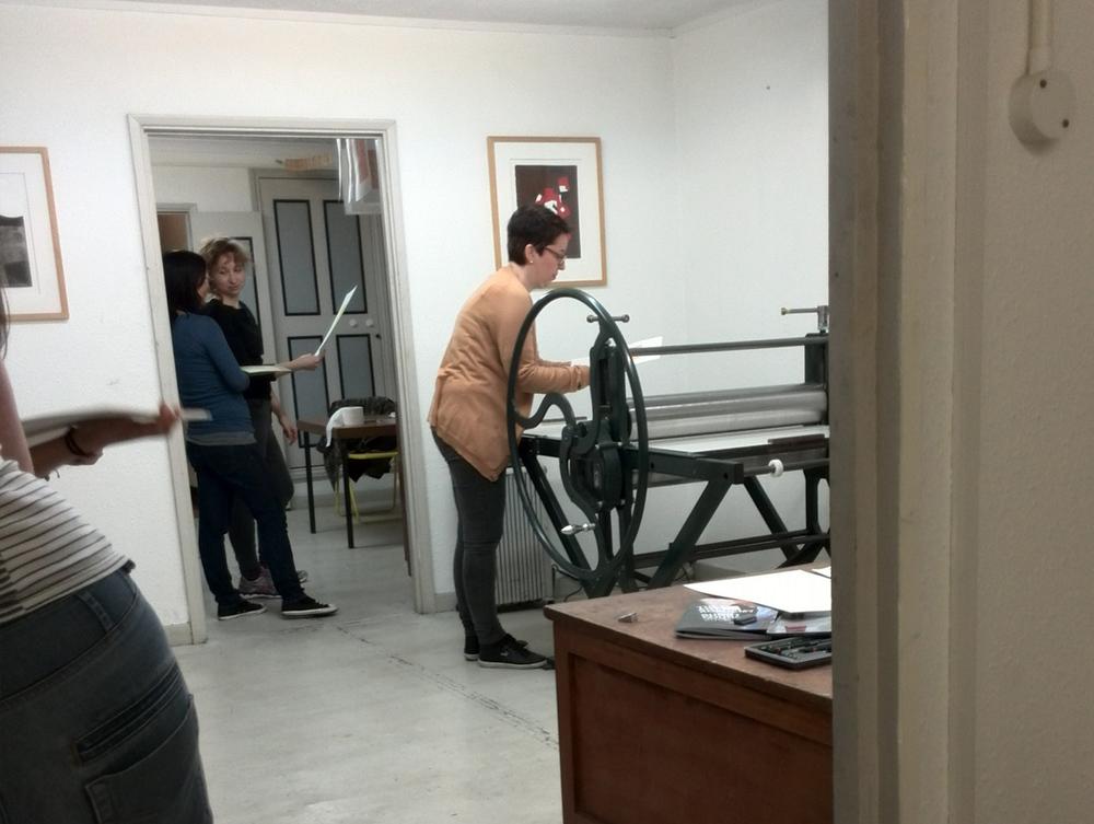 huge print pressure roller