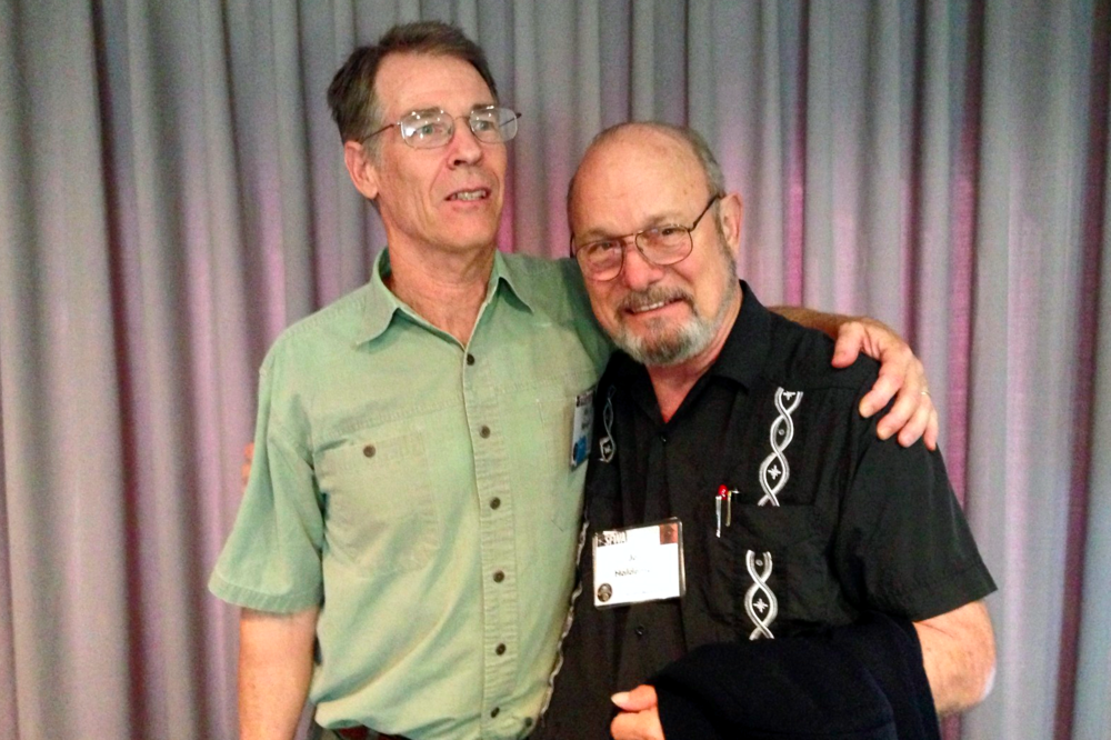 Best Novel winner Kim Stanley Robinson with Joe Haldeman.