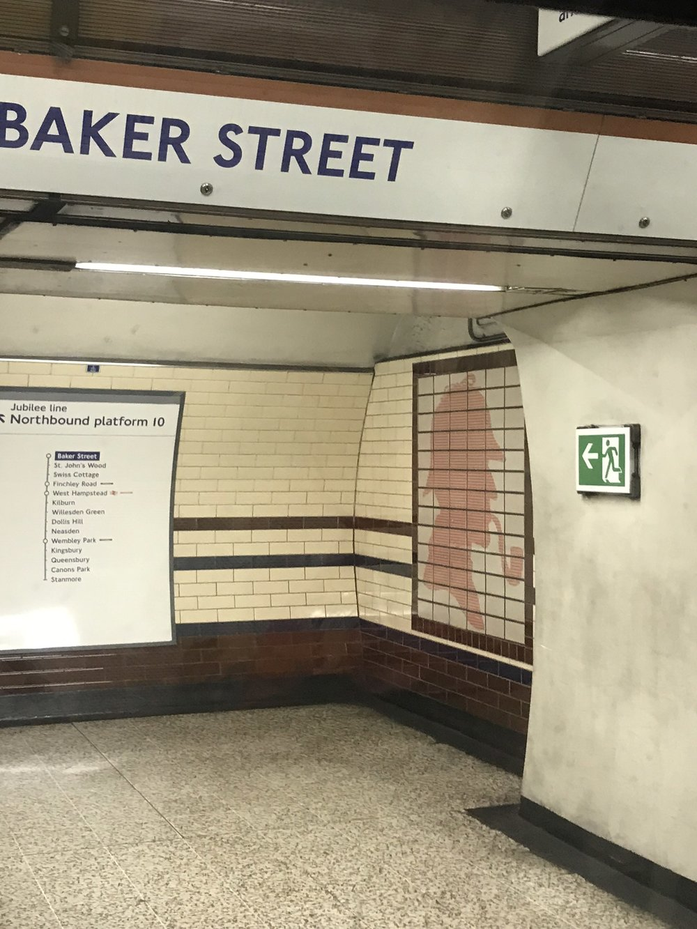 Baker Street Station - As seen in