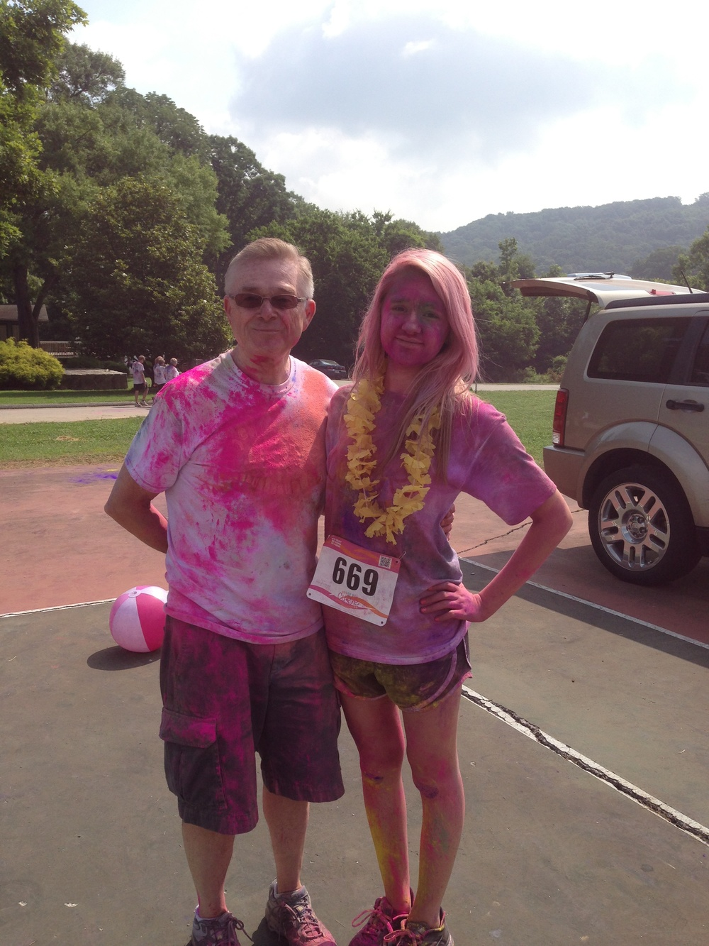 CtC 2013 Kaitlyn and Joe colorful after race.JPG