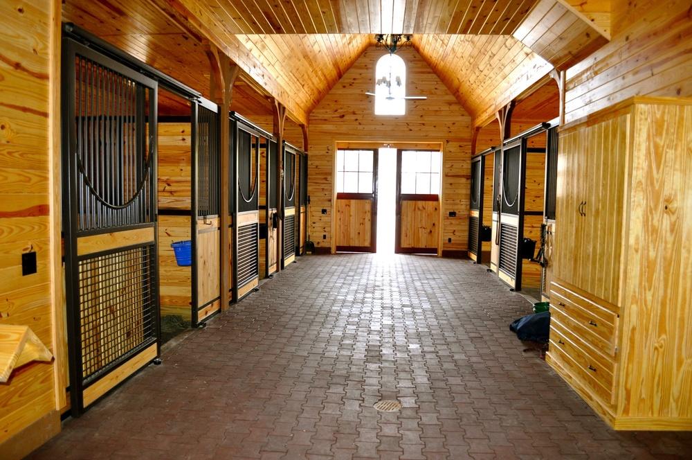 Inside of Barn Equestrian Training Facility in Aiken, SC