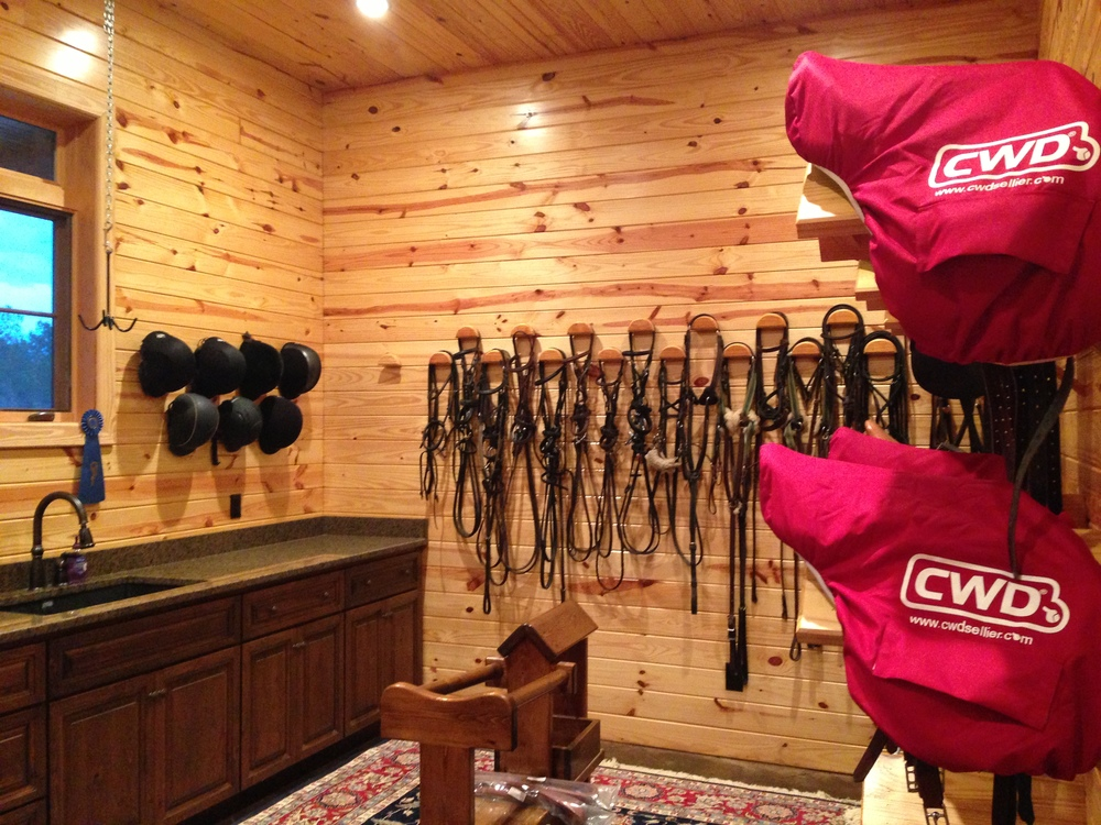 Main Tack Room at Hampf Equestrian in Aiken SC