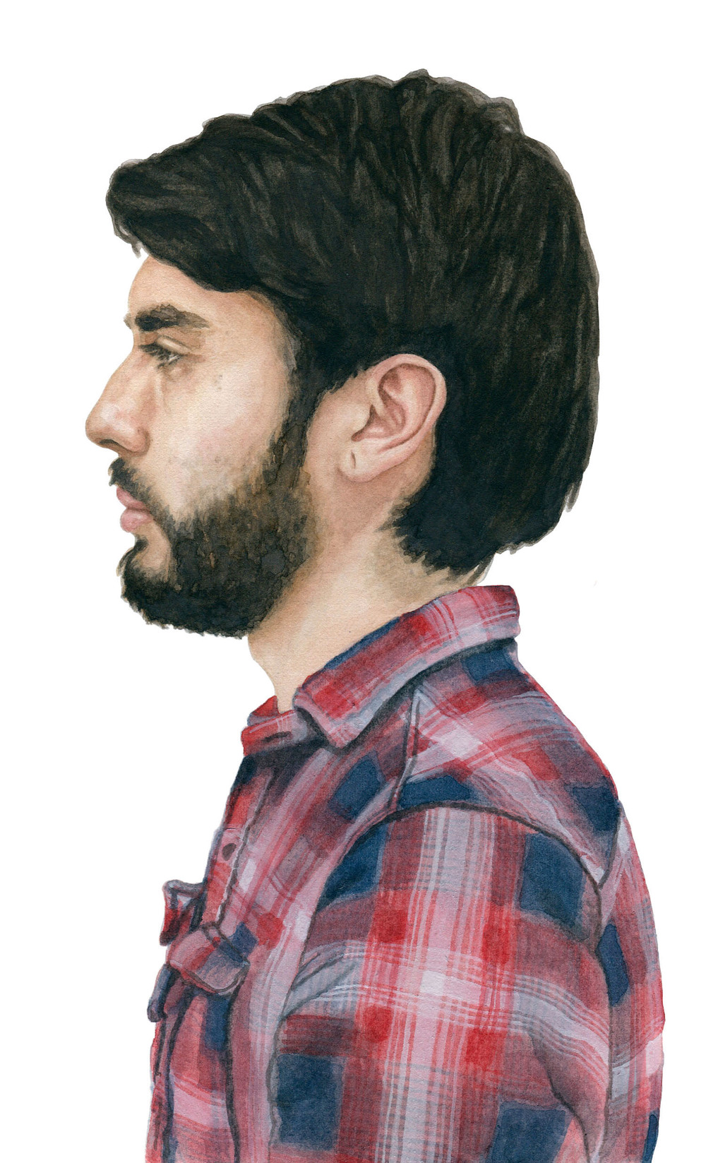 "Estaban, 2012 watercolor 5.25"" x 8.5"""