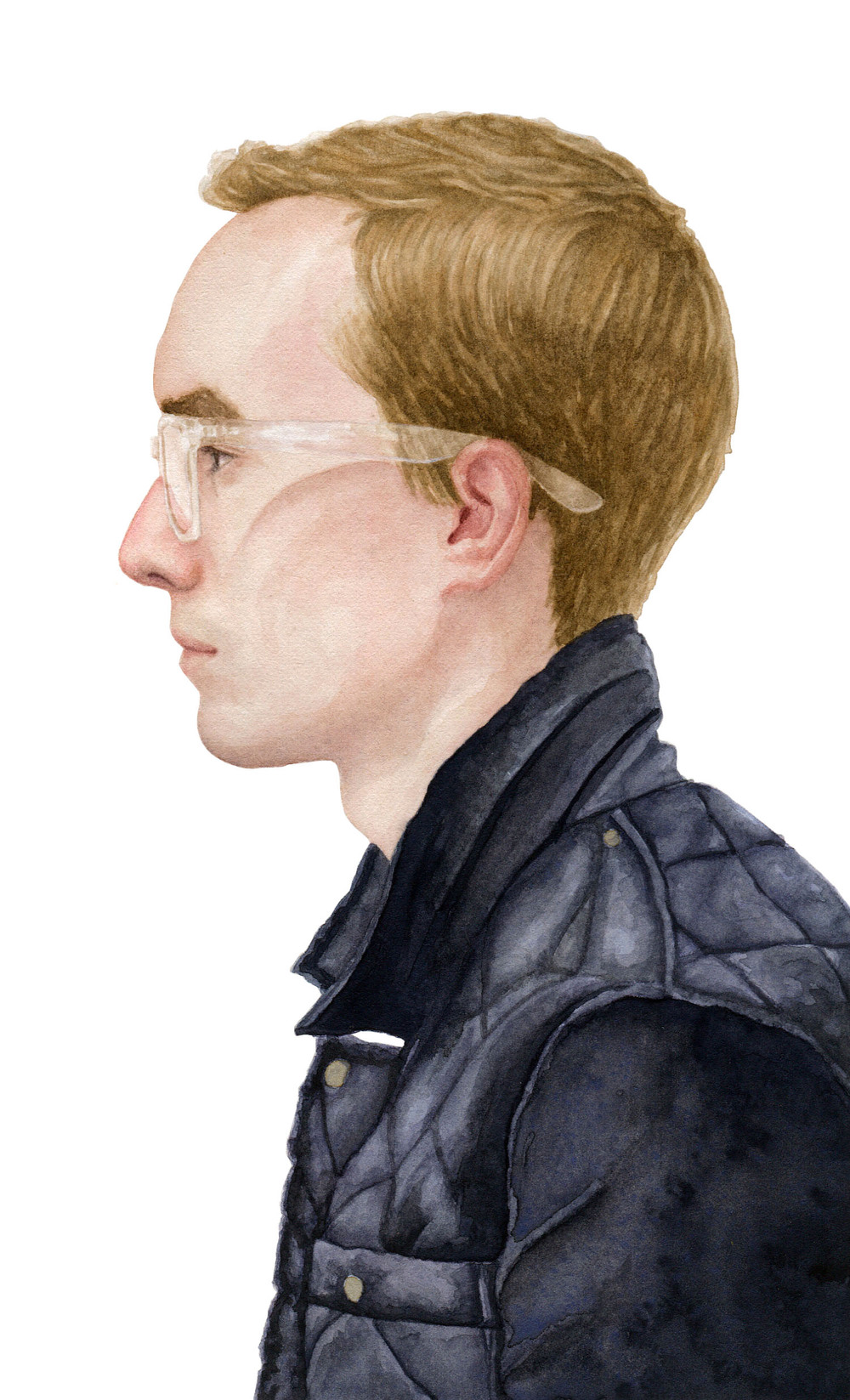"Kyle, 2012 watercolor 5.25"" x 8.5"""