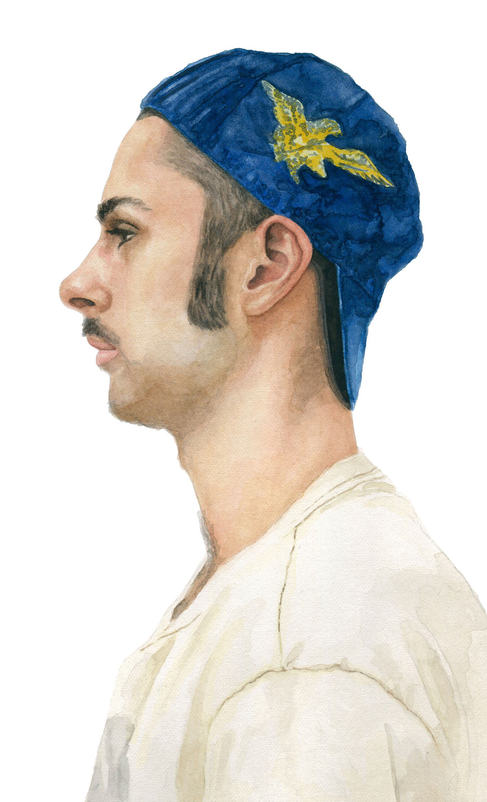 "Paul, 2012 watercolor 5.25"" x 8.5"""