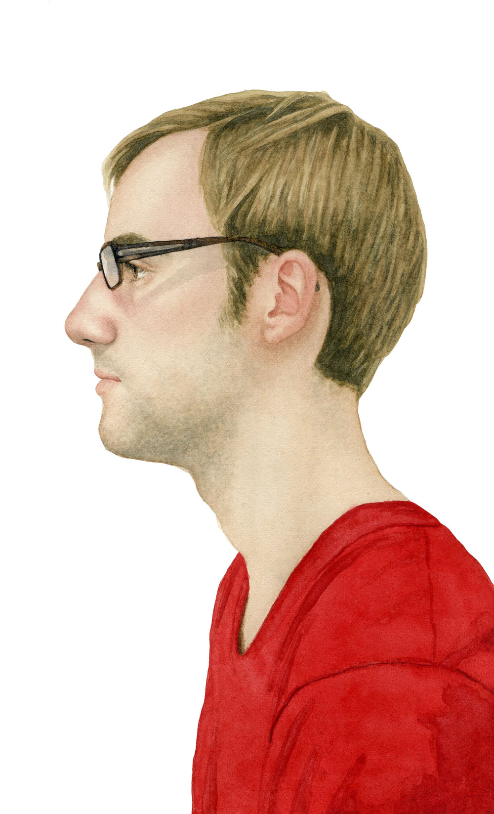 "Ian, 2012 watercolor 5.25"" x 8.5"""